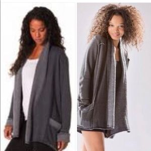 Hard Tail Slouchy Cardigan charcoal